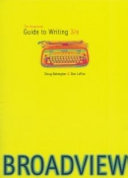 The Broadview Guide to Writing PDF