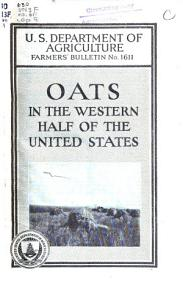 Oats in the Western Half of the United States PDF