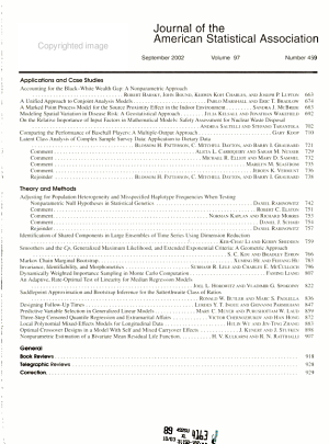 Journal of the American Statistical Association PDF