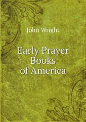 Early Prayer Books of America