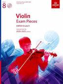 Violin Exam Pieces 2020-2023, ABRSM Grade 8, Score, Part & CD