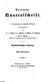 Theologische Quartalschrift: Band 36