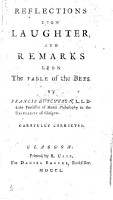 Reflections upon Laughter  and Remarks on the Fable of the Bees  by B  de Mandeville   PDF