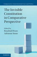 The Invisible Constitution in Comparative Perspective PDF