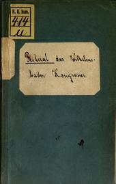 Ritual des Wilhelmsbader Congresses