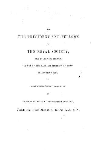 A Memoir of Francis Willughby  Esq  F R S  the Naturalist