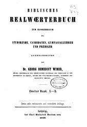 Biblisches Realwörterbuch: zum Handgebrauch für Studirende, Candidaten, Gymnasiallehrer und Prediger