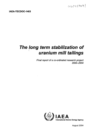 Long Term Stabilization of Uranium Mill Tailings