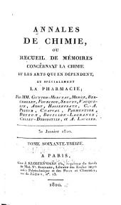 Annales de chimie: ou recueil de mémoires concernant la chimie et les arts qui en dépendent