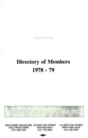 Directory of Members   Directors Guild of America PDF