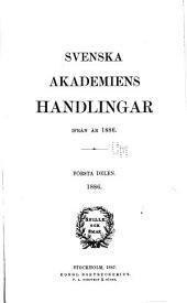 Svenska akademiens handlingar ifrån år ...