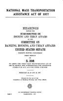 National Mass Transportation Assistance Act of 1977