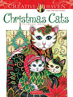 Creative Haven Christmas Cats Coloring Book Book