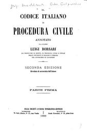 Il codice italiano di procedura civile: Parte 1
