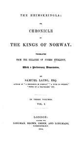 The Heimskringla: Volume 1