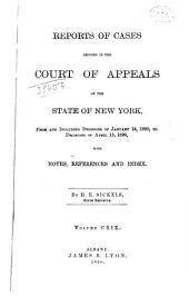 Reports of Cases Decided in the Court of Appeals of the State of New York: Volume 119