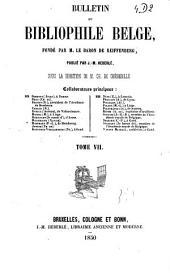 Le bibliophile belge: Volume7