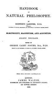 Handbook of Natural Philosophy  Electricity  magnetism  and acoustics PDF