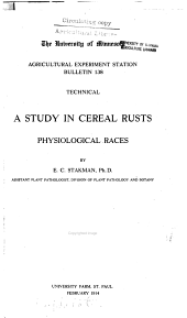 A study in cereal rusts: physiological races, Volumes 137-152