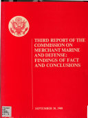 Third report of the Commission on Merchant Marine and Defense
