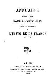 Annuaire historique: Volume17
