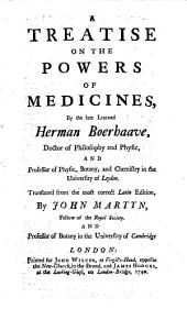 A Treatise on the Powers of Medicines