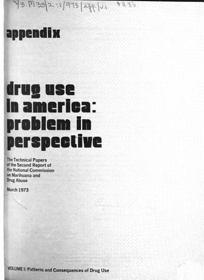 Drug Use in America  Patterns and consequences of drug use PDF