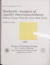 Stochastic Analysis of Aquifer Interconnectedness PDF