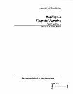 Readings in Financial Planning