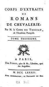 Corps d'extraits de romans de chevalerie: Volume3