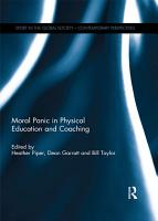 Moral Panic in Physical Education and Coaching PDF