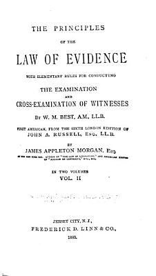 The Principles of the Law of Evidence PDF