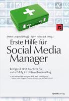 Erste Hilfe f  r Social Media Manager PDF