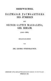 Briefwechsel Balthasar Paumgartners: Bände 204-206