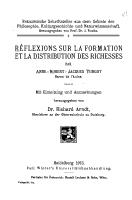 R  flexions sur la formation et la distribution des richesses PDF