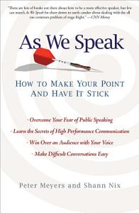 As We Speak Book
