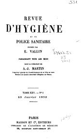 Revue d'hygiène et de police sanitaire: Volume25