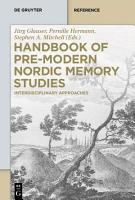 Handbook of Pre Modern Nordic Memory Studies PDF