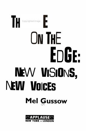 Theatre on the Edge PDF