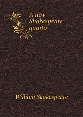 A new Shakespeare quarto