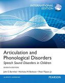 Articulation And Phonological Disorders Book PDF