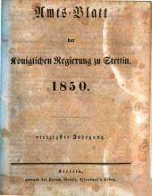 Amtsblatt der Regierung in Stettin: 1850