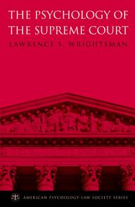 The Psychology of the Supreme Court Book