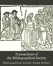 Transactions of the Bibliographical Society: Volume 6