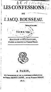 Les confessions de J. Jacq. Rousseau: Volume2