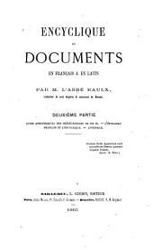 Encyclique et documents en français & en latin