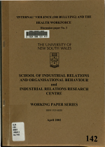 Internal Violence (or Bullying) and the Health Workforce