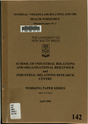 Internal Violence  or Bullying  and the Health Workforce