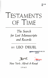 Testaments Of Time