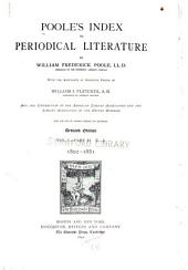 Poole's Index to Periodical Literature: Volume 1, Part 2